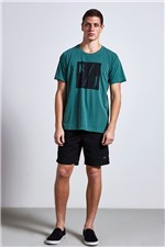 T-shirt Rj Print Verde Gg