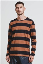 T-shirt Rugby Wide Stripes Caramelo G