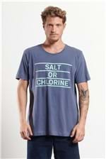 T-shirt Salt Or Chlorine Azul P
