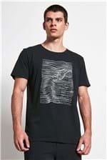 T-shirt Sea Waves Preto M
