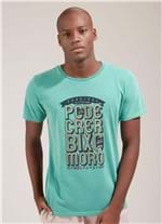 T-shirt Tinturada Silk Bicho Verde Claro G
