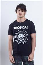 T-shirt Tropical Blitzeg Preto P