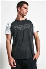 T-shirt Tropics Raglan Preto Gg