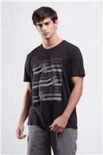T-shirt Wave Lines Degradee Preto Gg