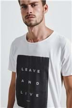 T-shirt White Leave And Live Off G
