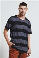 T-shirt Wide Stripes Botone T-shirt Wide Stripes Botone Preto G