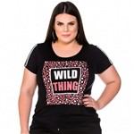 T-Shirt Wild Thing Bordada Plus Size P