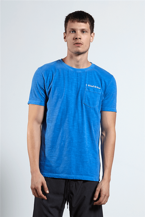 T-shirt Wind Pocket Azul G