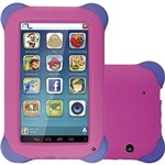 "Tablet Kid Pad N195 8gb 7"" Quadcore 3g Rosa - Multilaser"