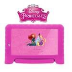 Tablet Kid Pad Nb281 das Princesas Disney com Capa Emborrachada Android 7.0 Multilaser 1gb de Ram 8gb de Armazenamento + Cartão de Memória 32 Gigas