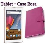 Tablet M7 3g Função Celular Dual Chip Rosa com Case Rosa