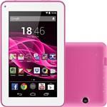 "Tablet Multilaser ML Supra 8GB Wi-Fi Tela 7"" Android 4.4 Quad Core - Rosa"