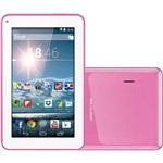 "Tablet Multilaser Supra 8GB Wi-Fi Tela 7"" Android 4.4 - Rosa"