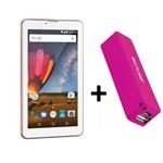 Tablet Rosa 3g Função Celular 2 Chips com Carregador Portátil