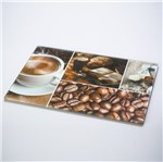 Tábua de Vidro 35X25cm Café