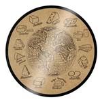 Tábua de Vidro para Queijo 25cm Cortiça Euro