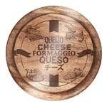 Tábua de Vidro para Queijo 25cm Madeira Euro