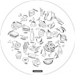 Tábua de Vidro Redonda 40 Cm Circles