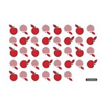 Tábua de Vidro Retangular 20x30 Vermelho