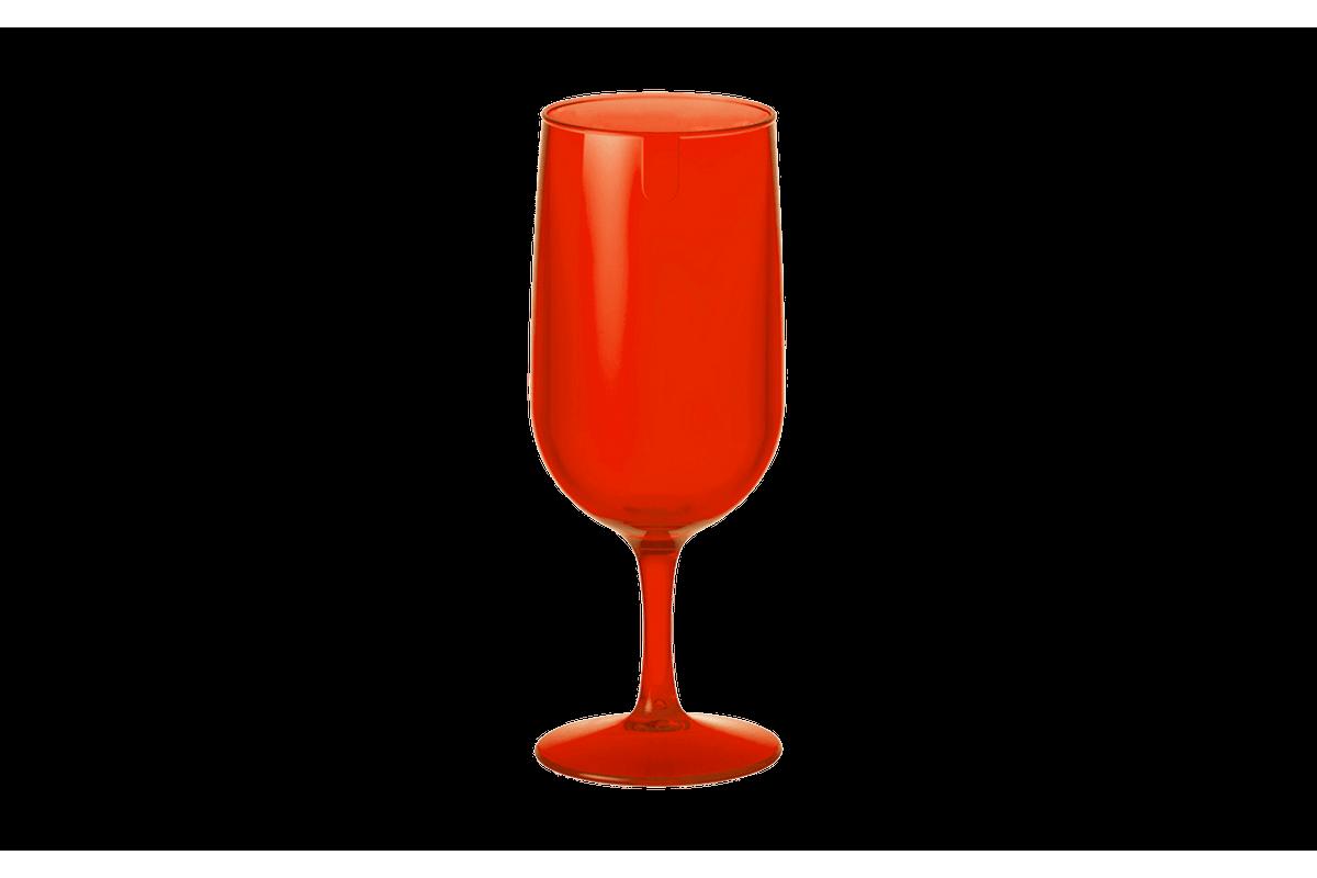 Taça Cerveja Fun 300 ML 6,1 X 6,1 X 18,5 Cm 300 Ml Vermelho Transparente Coza