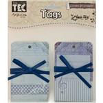 Tag Vintage Azul Tv008 - Toke e Crie By Flavia Terzi