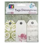Tags Decorativas Canvas Clássico TDC002 - Toke e Crie