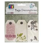 TAGS Decorativas Canvas Natureza TDC003 - Toke e Crie