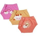 Tapa Fraldas Bebê Feminino Kit com 3 Unidades-P