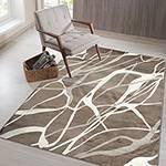 Tapete Bari Retangular Marrom 200x300cm - Casa & Conforto