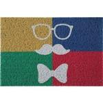 Tapete Capacho Pvc Arte Oculos/bigode/laço Jolitex