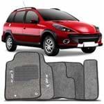 Tapete Carpete Grafite 207 Sw 2009 a 2013 Logo Peugeot 2 Lados Dianteiro