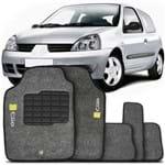 Tapete Carpete Personalizado Grafite Clio 1996 a 2012 Logo Renault Bordado 2 Lados Dianteiro