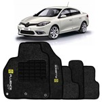Tapete Carpete Personalizado Preto Fluence Gt 2013 2014 Logo Bordado Renault 2 Lados Dianteiro