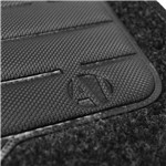 Tapete Carpete Preto Xsara 1996 a 2003 Logo Bordado Citroen 2 Lados Dianteiro