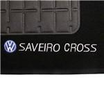 Tapete Carpete Saveiro Cross G6 Preto 2014 Logo Bordado 2 Lados Dianteiro