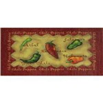 Tapete Confort Kitchen Chili Peppers 80x50cm