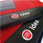 Tapete Fiat Idea 2015 Carpete Vermelho Traseiro Inteiriço