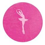 Tapete Infantil em Formato de Bailarina 78x68cm Pink
