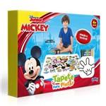 Tapete para Pintar com Giz de Cera - Mickey Mouse - Disney - Dupla Face - Toyster