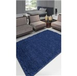 Tapete Realce Liso 150X200 Cm Azul