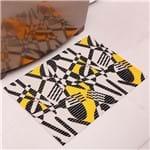 Tapete Tropical 43x65cm para Cozinha Amarelo Amarelo
