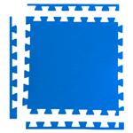 Tatame 1m X 1m X 20mm + 3 Borda Acabamento - Azul Royal Azul Royal