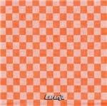 Tecido Bordado Xadrez (0,50x1,40) - Estilotex 92 - Laranja