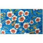 Tecido Chita 1m Floral - Azul