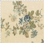 Tecido de Linho para Patchwork - Rose Garden Floral Azul (0,50x1,40)