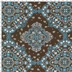 Tecido Estampado para Patchwork - 20158 Bandana Marrom com Azul Cor 17 (0,50x1,40)
