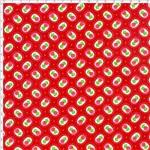 Tecido Estampado para Patchwork - 20251 Floral com Poá Vermelho Cor 18 (0,50x1,40)