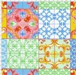 Tecido Estampado para Patchwork - 30557 Azulejo Português Cor 01 (0,50x1,40)