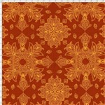 Tecido Estampado para Patchwork - 30658 Mandala Laranja Cor 02 (0,50X1,40)
