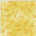 Tecido Estampado para Patchwork - 50 Tons Arabesco Amarelo Ouro Cor 34 (0,50x1,40)